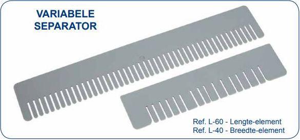 VARIABELE SEPARATOR - Ref L-40-60 - Lengte-element